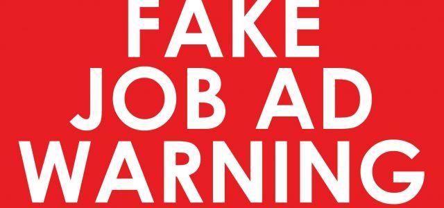 Fake Job Ads on Seek